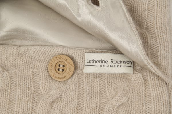 CASHMERE CUSHION - SOFT OATMEAL