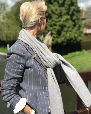 Cashmere Wrap - Grey Pearl