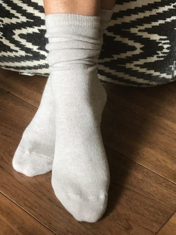Cashmere Socks - Pebble
