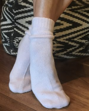CASHMERE BED SOCKS - ICE PINK