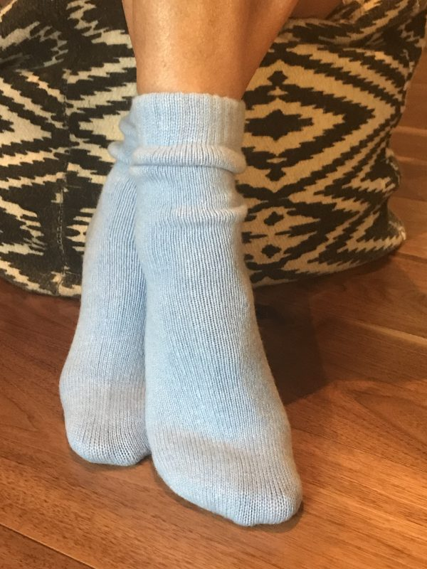 Cashmere Bed Socks - Cornflower