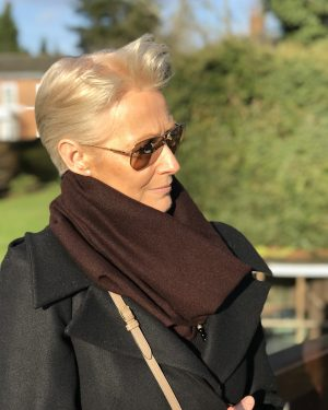 Cashmere Snood - Chocolate