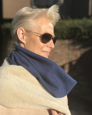 Cashmere Snood - Soft Navy