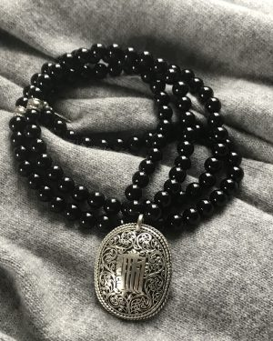 MALA BEAD NECKLACE - ONYX