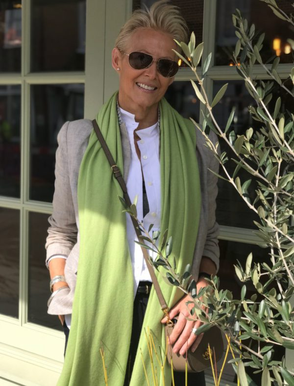 CASHMERE CLASSIC WRAP - LIME