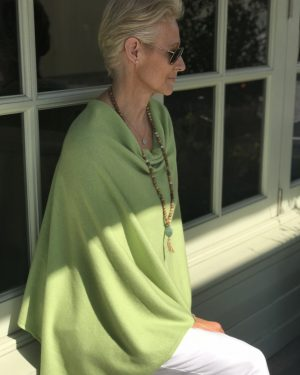 Cashmere Poncho - 088 Lime