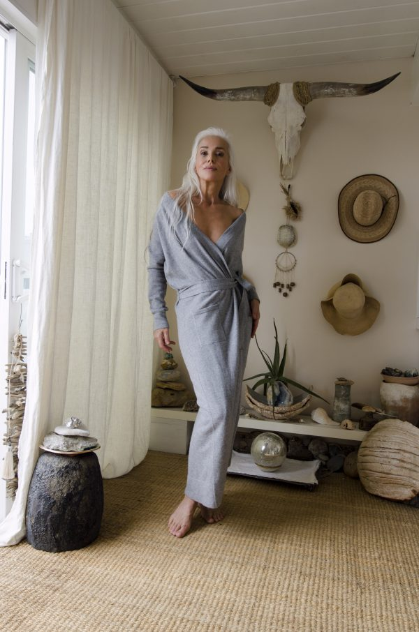 Cashmere Robe - Grey Pearl