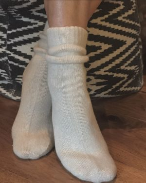 Cashmere Bed Socks - Soft Oatmeal