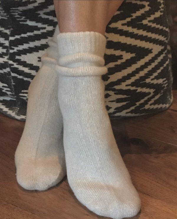 Cashmere Bed Socks - Soft Oatmeal