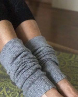 Cashmere Legwarmers - Soft Grey