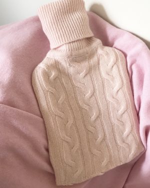 Cashmere Hot Water Bottle Cover - Soft Pink
