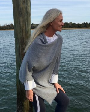 Cashmere Poncho - 088 Light Grey