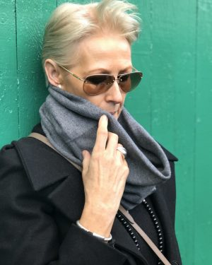 Cashmere Snood - Charcoal Grey