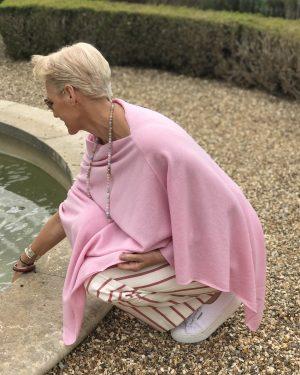 Cashmere Poncho - 088 Warm Pink