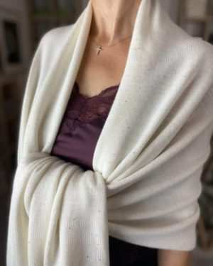 sparkle dust cashmere wrap